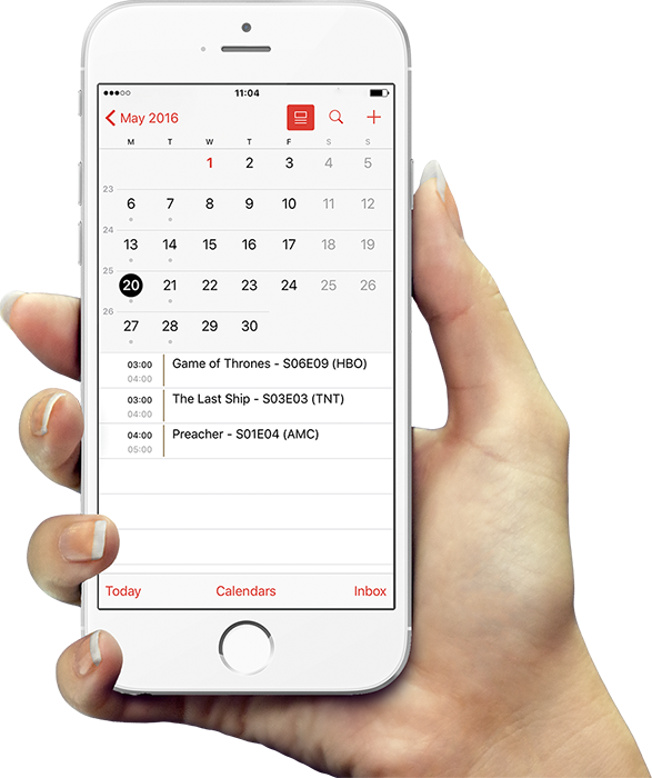 EpisoDate Calendar Integration