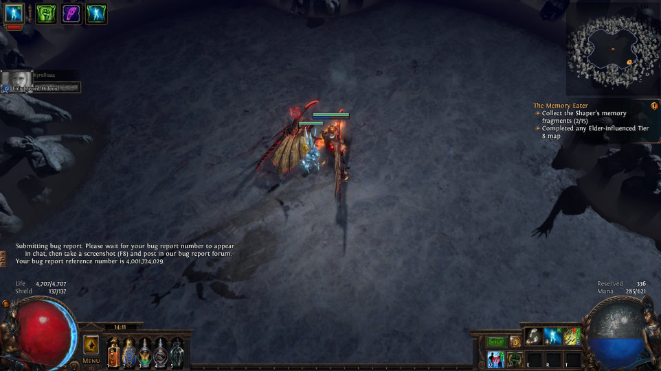 forum bug reports bugged elder fight path of exile