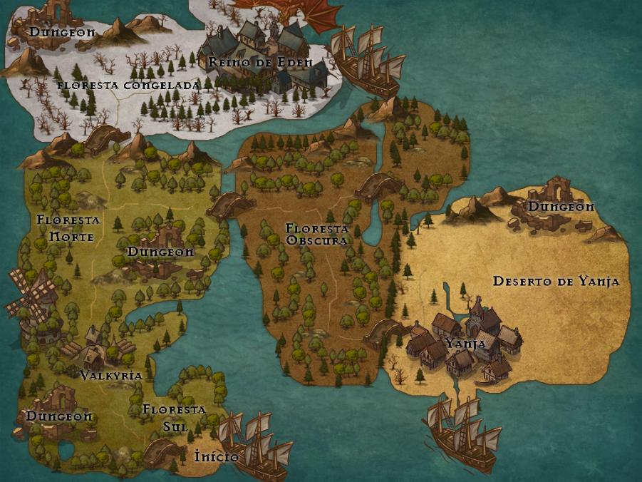 Fantasy Online (Open Beta) Mapa