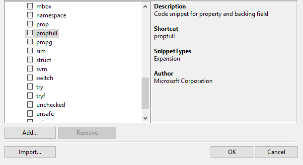 How to show all Visual Studio's code snippets in Resharper's